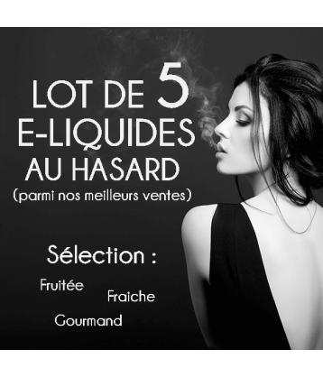 Lot de 5 e-liquides au hasard fabriqué par de Accueil
