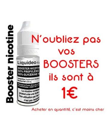 Booster nicotine 20 mg Liquideo fabriqué par Liquideo de Accueil